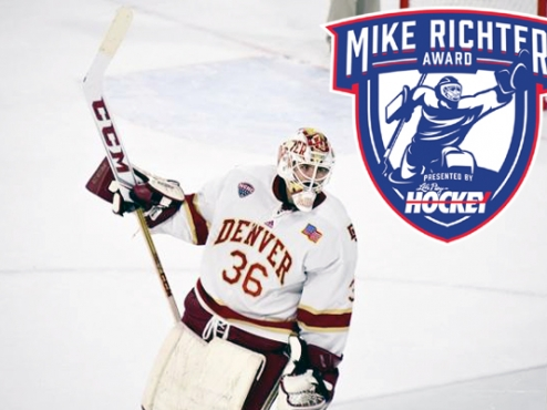 NCAA: Tanner Jaillet Of Denver Named Winner Of 2017 Mike Richter Award
